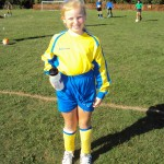 Girls take part in Football Tournament